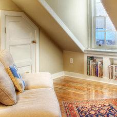 Eclectic Home Office by Buckminster Green LLC