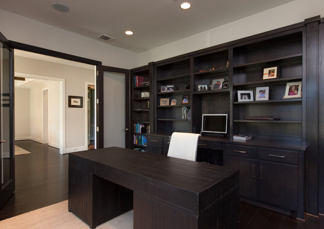 Contemporary Home Office by Frankel Building Group