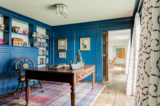 Traditional Home Office by PLATEMARK DESIGN