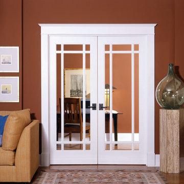 9-Lite Decorative Glass Interior Door