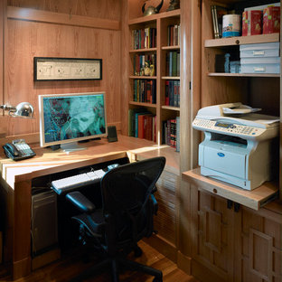 A client's workstation with the printer cabinet open