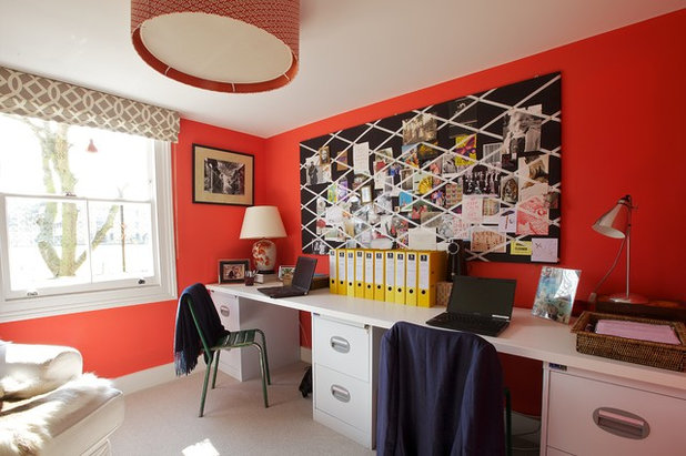 Eclectic Home Office by Turner Pocock