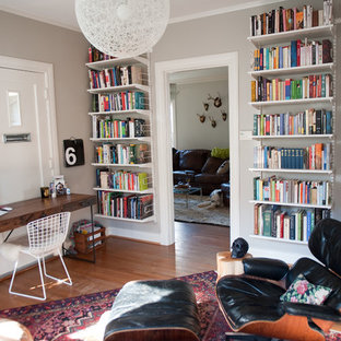 Example Of An Eclectic Home Office Design In Dallas