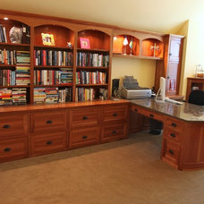 Contemporary Home Office by Kuhl Design Build LLC