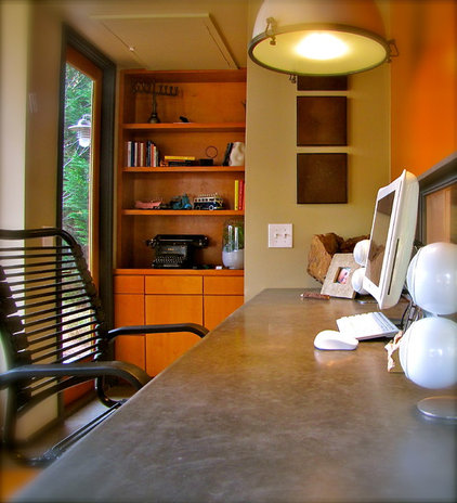 Rustic Home Office A Man Cave That's More Bauhaus Than Bedrock