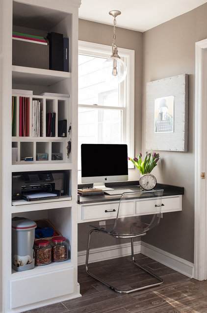 Contemporary Home Office by Cory Connor Designs