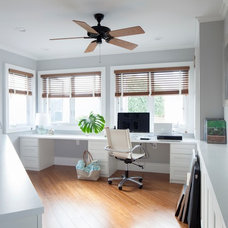 Tropical Home Office by Barker Kappelle Construction, LLC