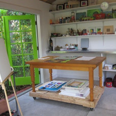Eclectic Home Office by Historic Shed