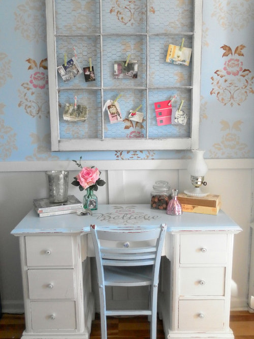 Vintage inspired office houzz for Office design vintage