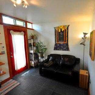Minimalist home office photo in Denver