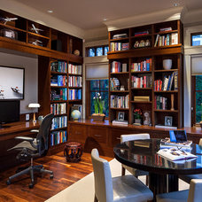 Traditional Home Office by Peter Rose Architecture and Interiors