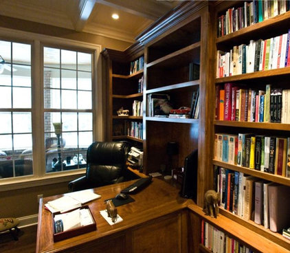 Traditional Home Office by Stroble Building Company