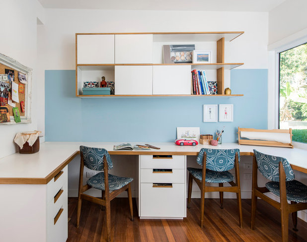 Contemporary Home Office & Library by CG Design Studio