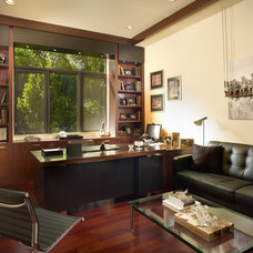 Contemporary Home Office by Jeffrey King Interiors