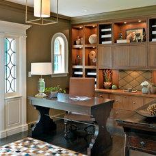 Transitional Home Office by Meyer & Meyer, Inc.