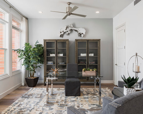 Best Transitional Home Office Design Ideas & Remodel Pictures | Houzz
