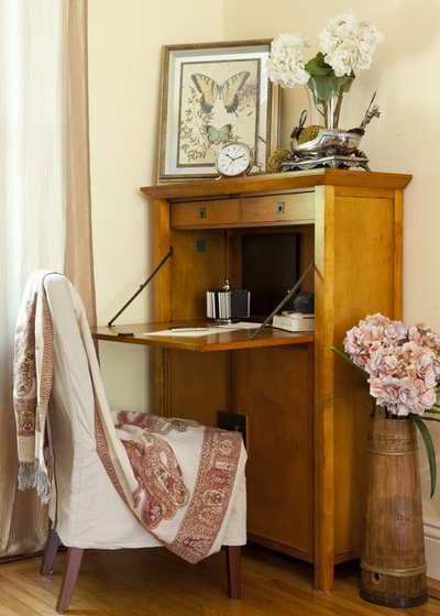 Eclectic Home Office After
