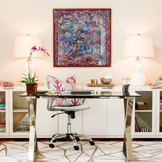 Contemporary Home Office by Poplin & Queen Interiors
