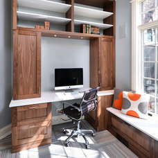 Transitional Home Office by MAY designs