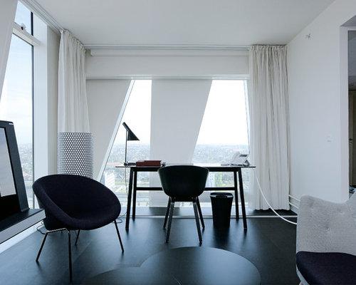 Billeder og indretningsidéer til moderne hjemmekontor