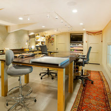 Contemporary Home Office by Kurt Johnson Photography