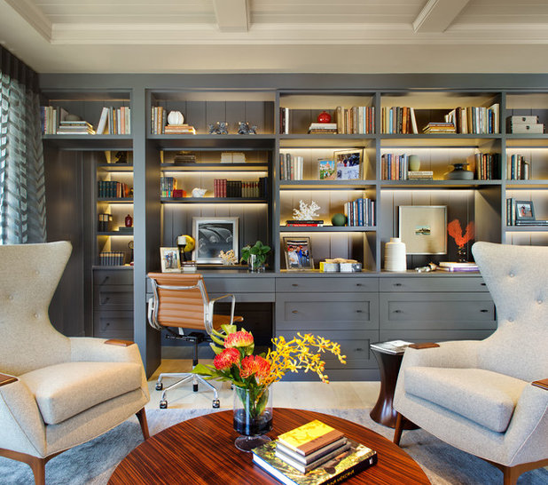 Transitional Home Office by Christian Rice Architects, Inc.