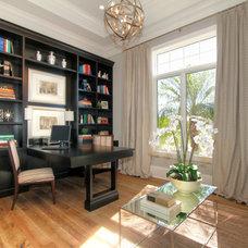 Traditional Home Office by Diamond Custom Homes, Inc.