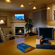 Traditional Home Office by Potter Construction Inc