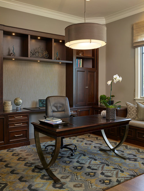 Traditional home office design ideas remodels photos for Office design houzz
