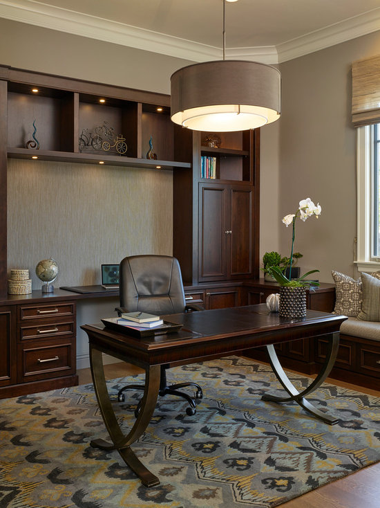 Traditional Home Office mid-sized traditional home office design ideas, remodels & photos