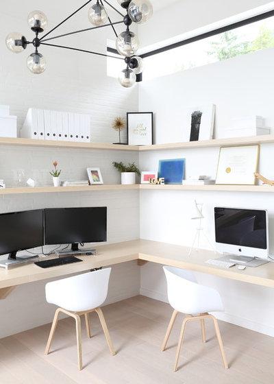 Contemporain Bureau à domicile by Blackfish Homes Ltd.