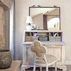 Transitional Home Office by Ashley Campbell Interior Design