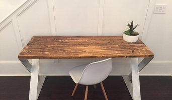 Aluminum Reclaimed Wood Desk