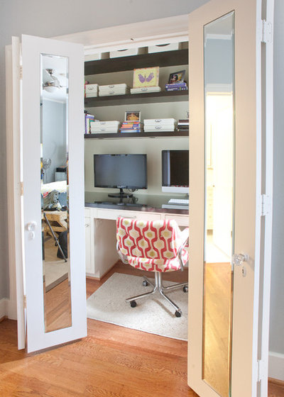 Contemporary Home Office by Modern Craft Construction, LLC