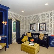 Contemporary Home Office by Alexandra Naranjo Designs