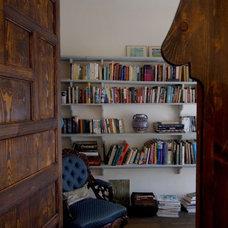 Eclectic Home Office by NURIT GEFFEN-BATIM STUDIO