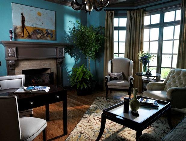 Contemporary Home Office by Anderson Design Studio