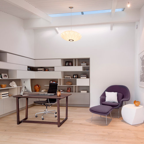 Office wall cabinet houzz for Study room wall cabinets