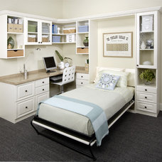 Transitional Home Office by Portland Closet Company