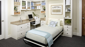 Antique White Office with Twin Wall Bed
