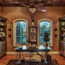 Traditional Home Office by Nancy Calvert