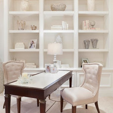 Transitional Home Office by ibi designs