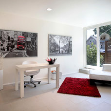 Contemporary Home Office by Shawn St.Peter Photography