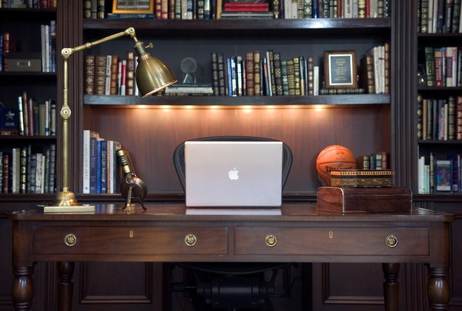 Traditional Home Office by Ed Ritger Photography