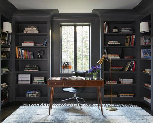 arbeitszimmer mit korkboden ideen design bilder houzz. Black Bedroom Furniture Sets. Home Design Ideas