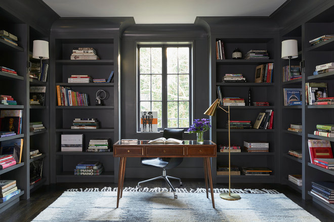 Transitional Home Office by Daniel Jason Cordova, LLC