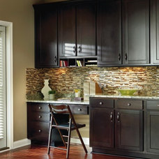 Transitional Home Office by MasterBrand Cabinets, Inc.