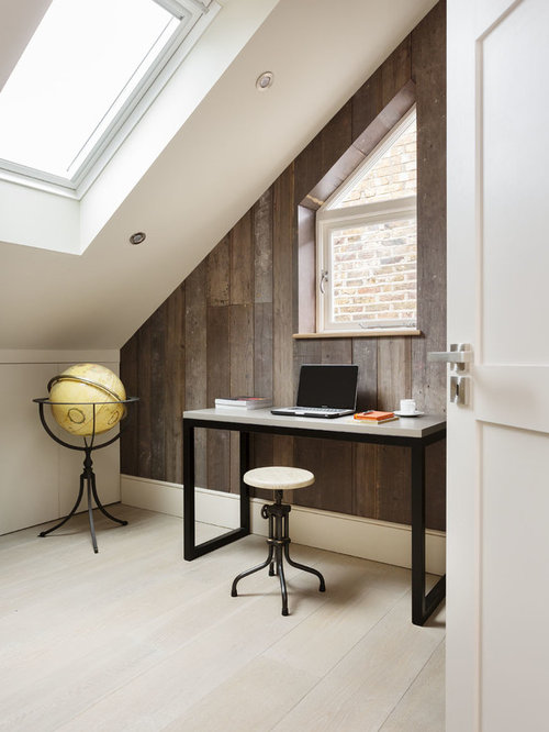 home design office. Design Ideas For A Contemporary And Modern Home Office Library In London With White Walls