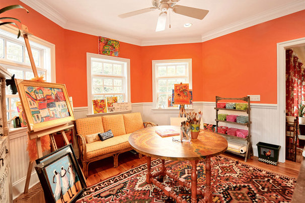 Eclectic Home Office by Echelon Custom Homes