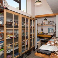 Industrial Home Office by Tall Pines Construction